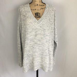 Lane Bryant Gray Knit Sweater Sz 22/24